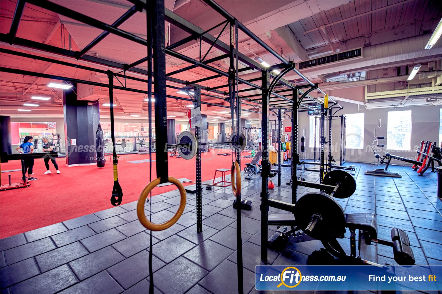 Fitness First Melbourne Central Platinum Near Southbank The strength matrix is great for a whole range of functional strength exercises.