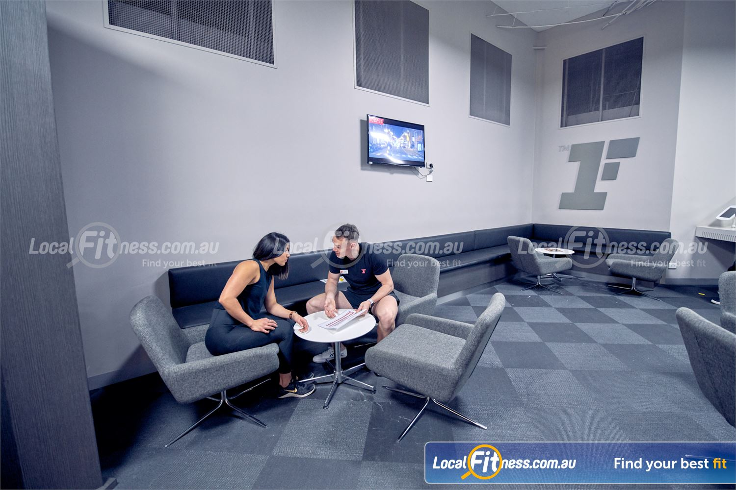 Fitness First Melbourne Central Platinum Near South Melbourne Connect with clients and friends in our members lounge.