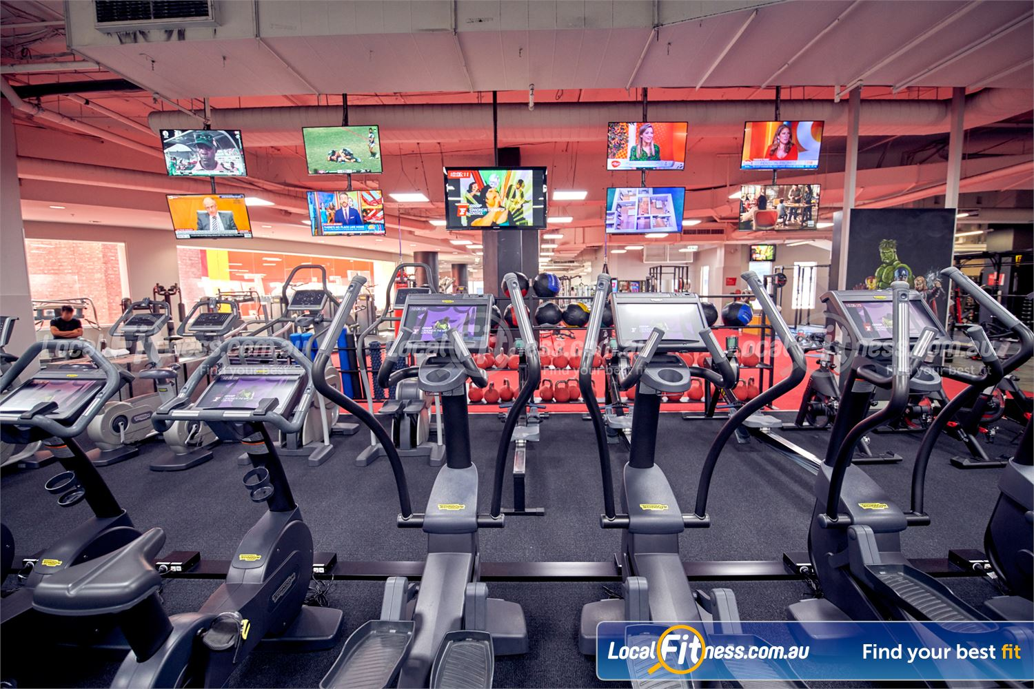 Fitness First Melbourne Central Platinum Near East Melbourne Watch your favourite shows on your personal entertainment consoles.