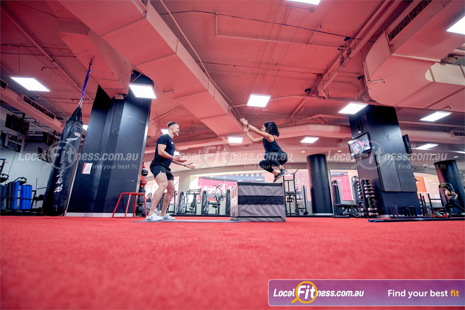 Fitness First Melbourne Central Platinum Near South Melbourne Improve your athletic performance with plyometric training.