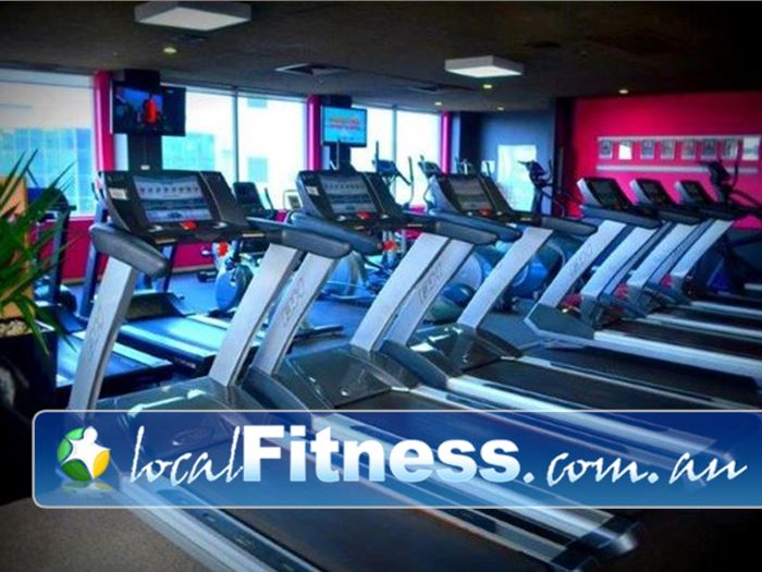 Fernwood Fitness Near Rundle Mall State of the art cardio machines built in displays.