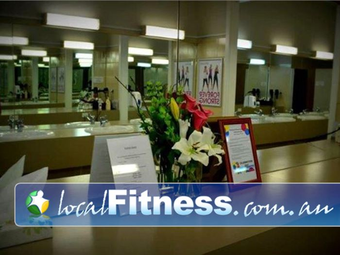 Fernwood Fitness Adelaide Clean and pristine change room services.
