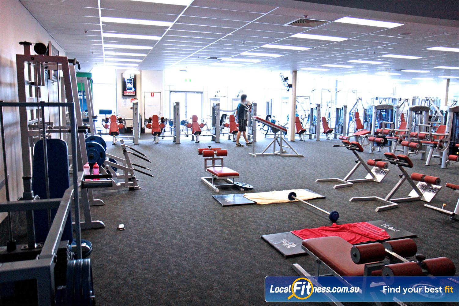 Goodlife Health Clubs Ipswich The Ipswich gym includes an extensive selection of equipment from Calgym Synergy.