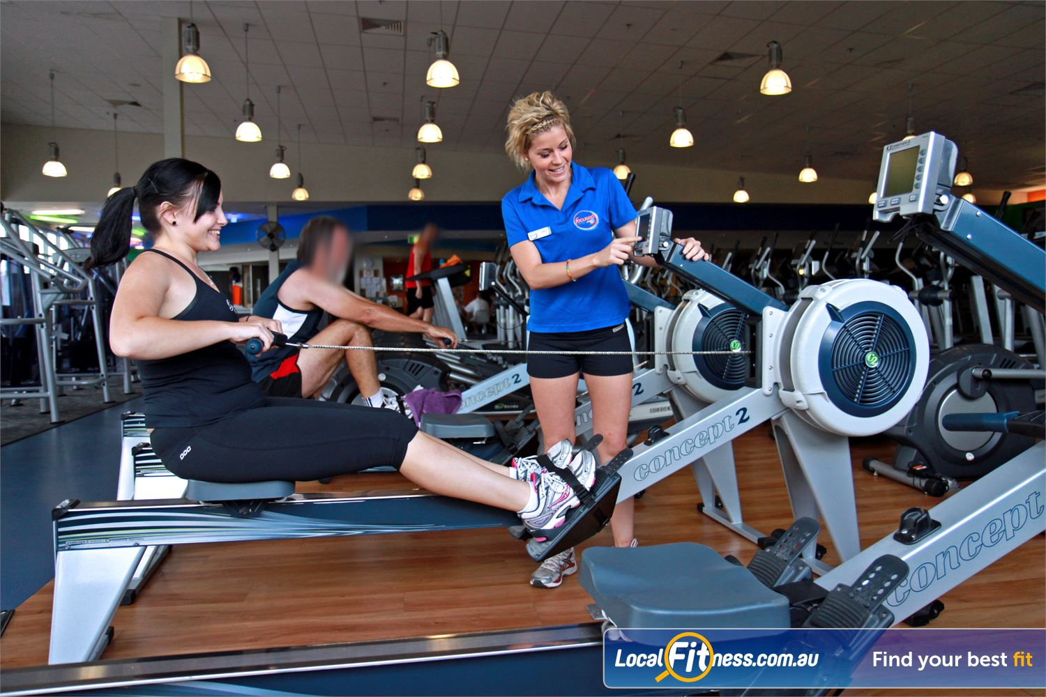 Goodlife Health Clubs Near West Ipswich Our Ipswich personal trainers can vary your cardio with indoor rowing.