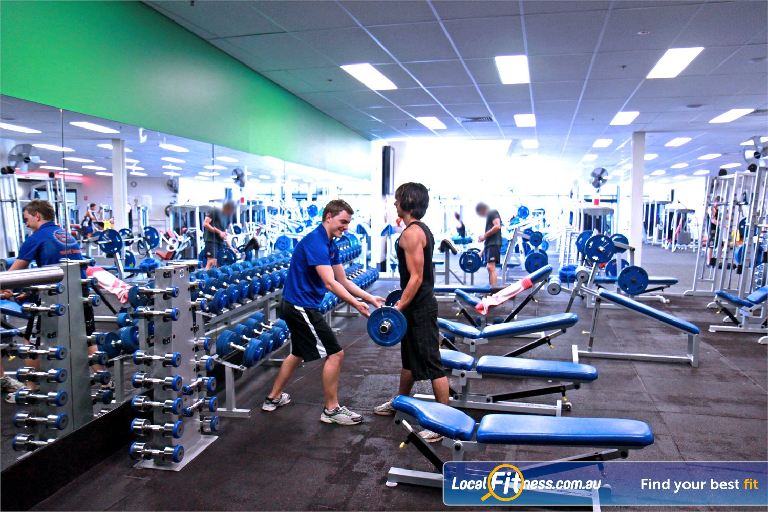 Goodlife Health Clubs Near Woodend Our Ipswich gym includes a comprehensive range of dumbbells and barbells.