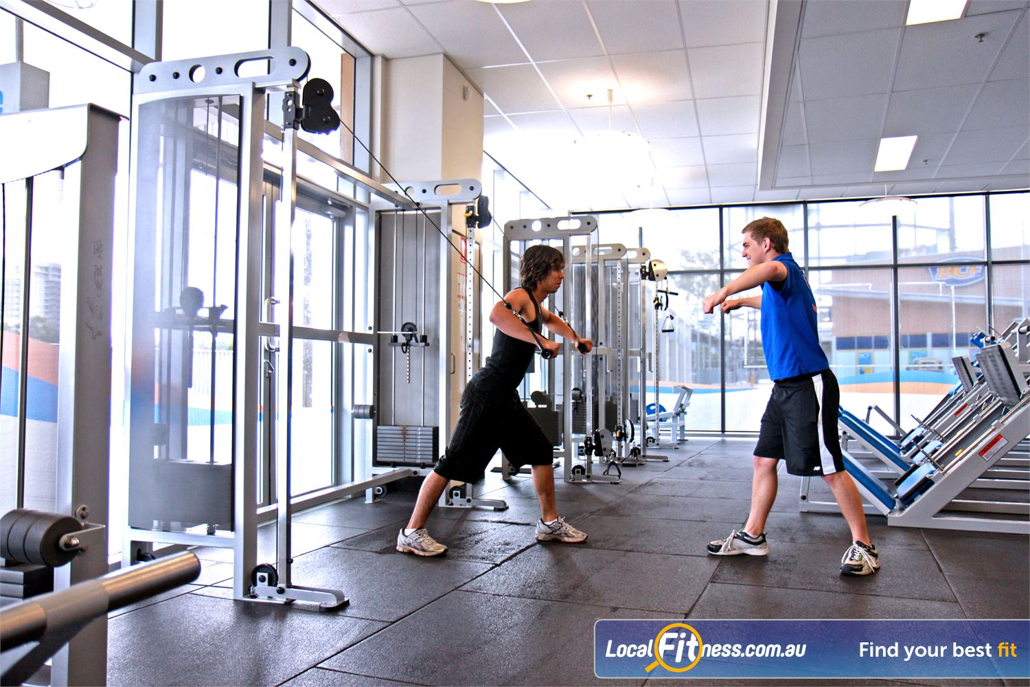 Goodlife Health Clubs Ipswich Ipswich gym instructors can tailor a weight-loss and strength training program to suit you.