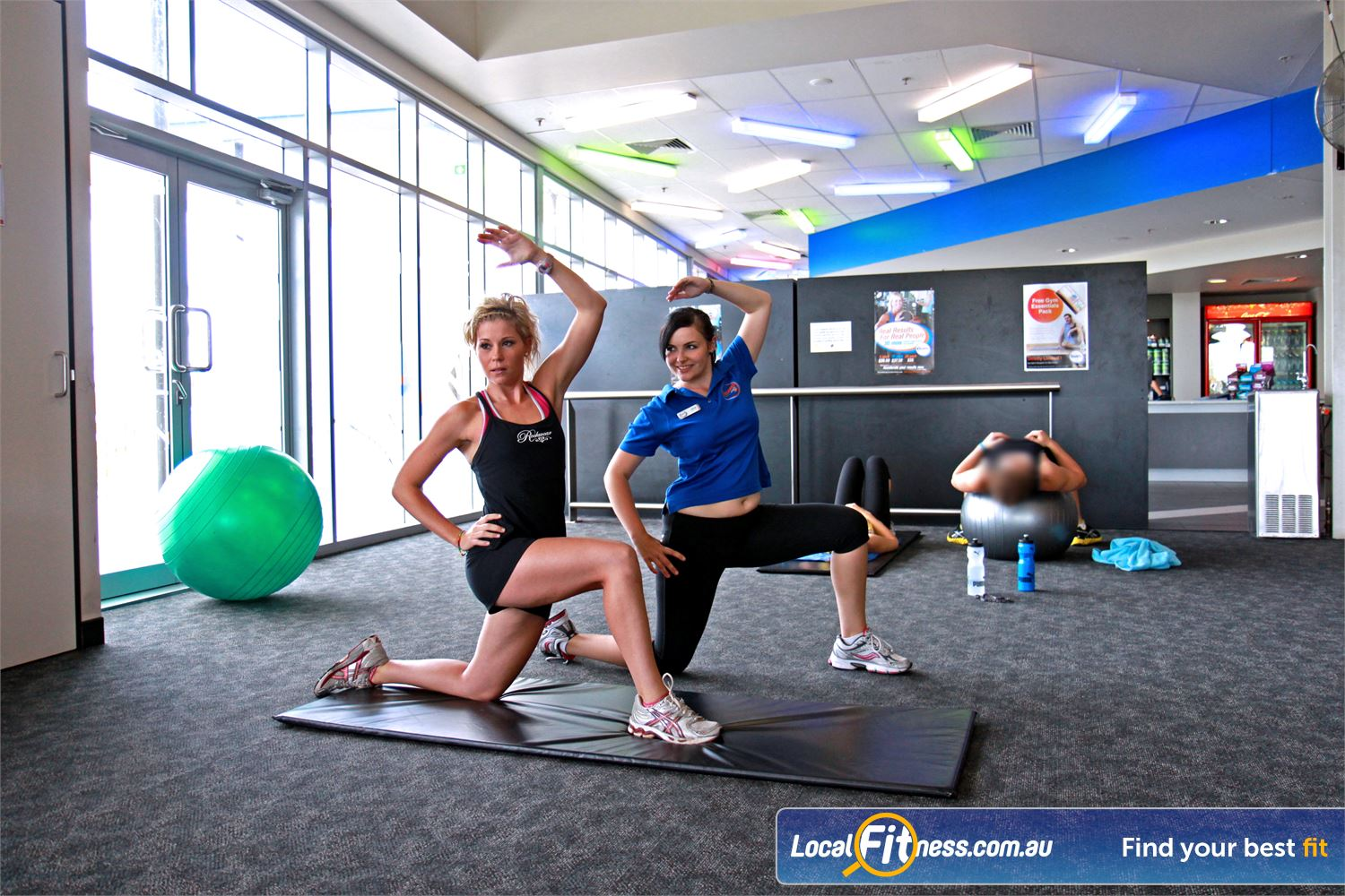 Goodlife Health Clubs Ipswich Ipswich personal trainers can tailor a stretching and ab program for you.