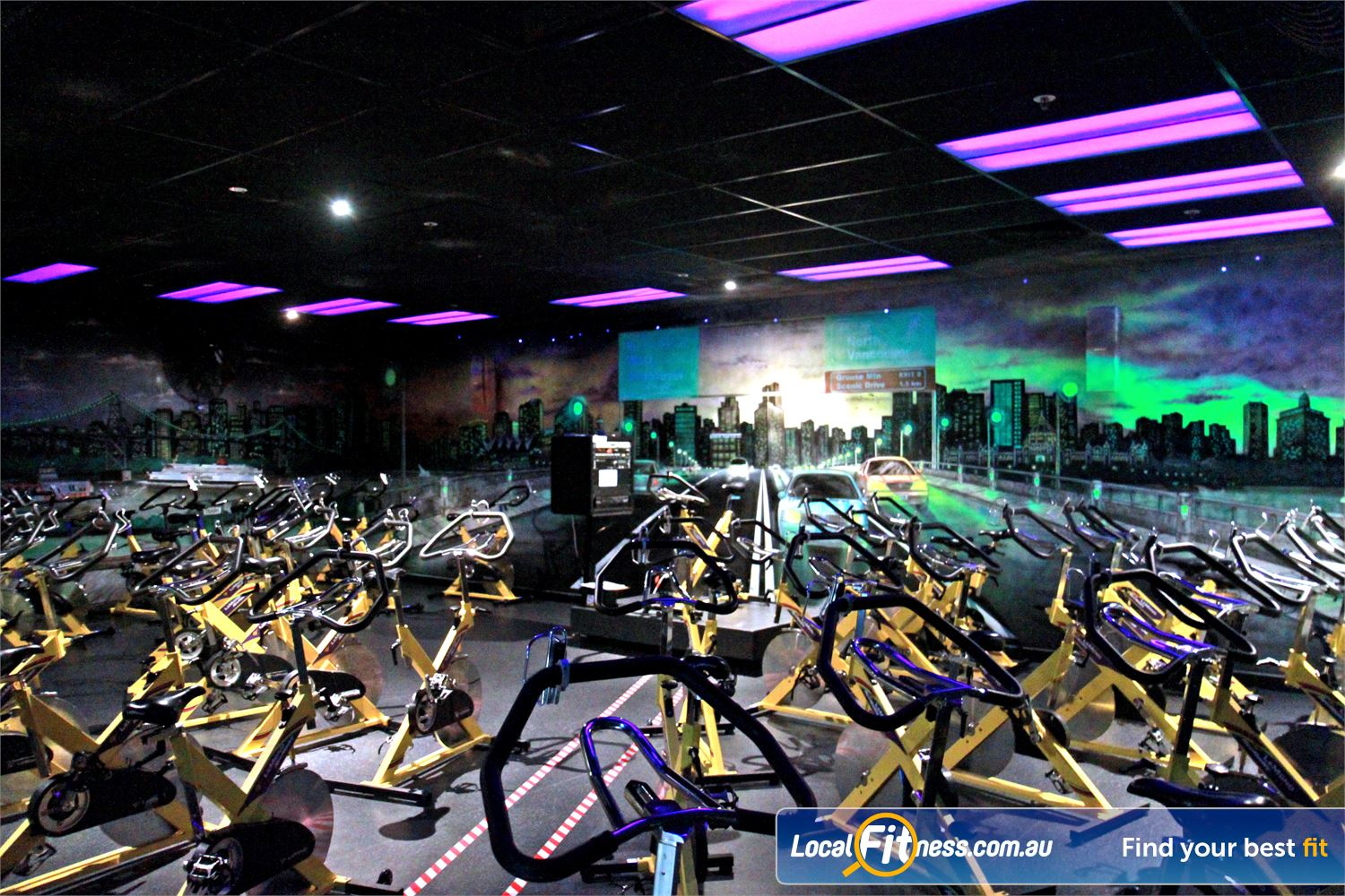 Goodlife Health Clubs Near Woodend Dedicated Ipswich spin cycle studio.