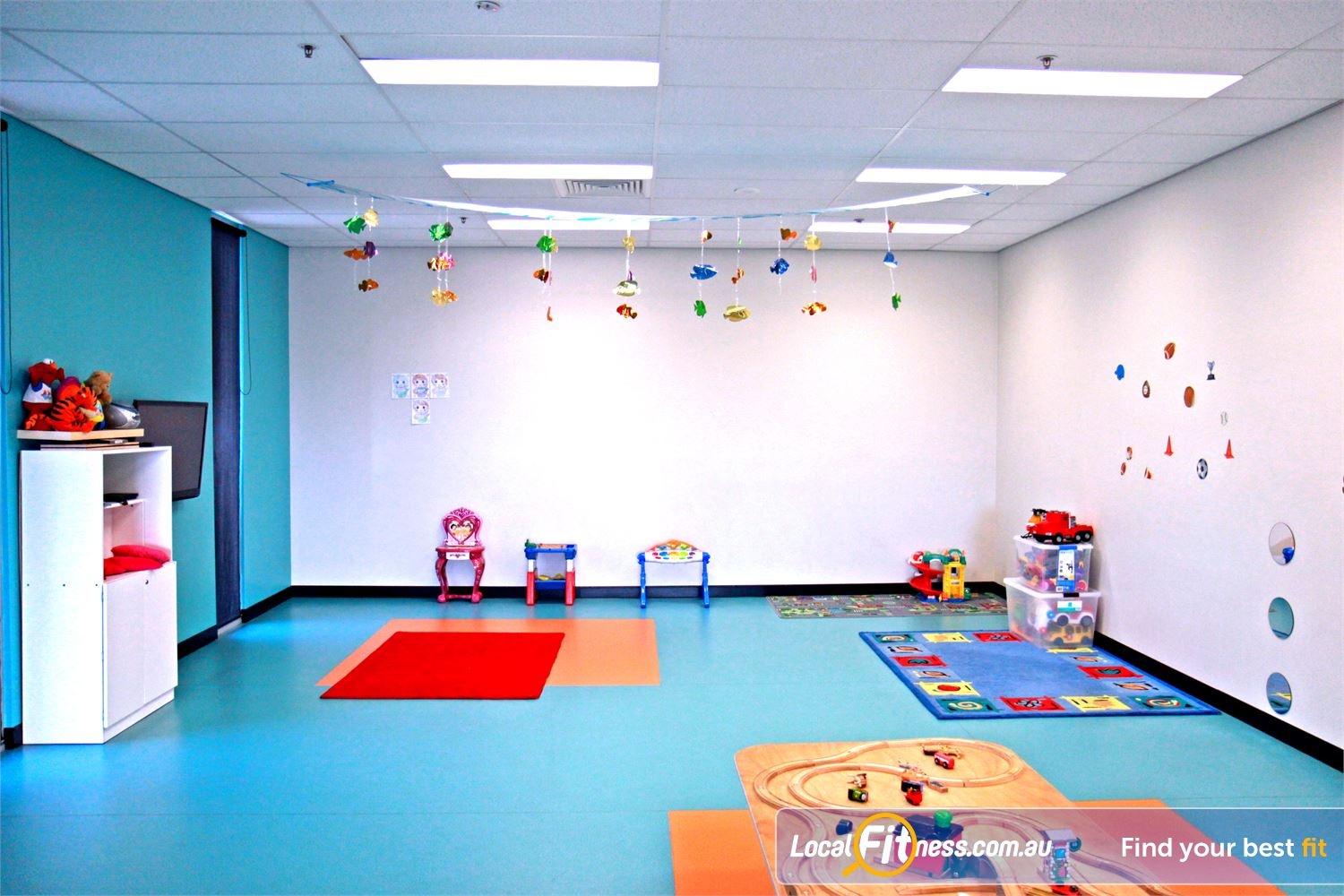 Goodlife Health Clubs Near Newtown Ipswich child minding is part of our family friendly gym environment.