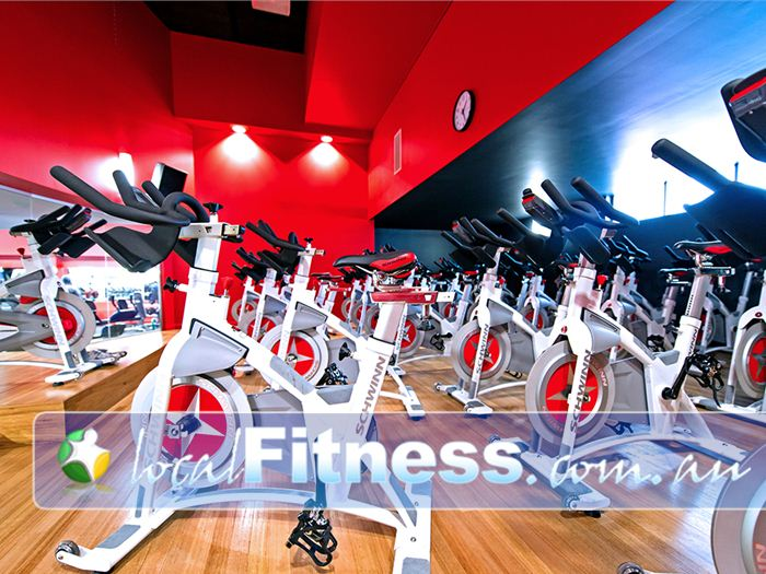 Genesis Fitness Clubs Near Warabrook Energetic cycle classes will get your heart pumping.