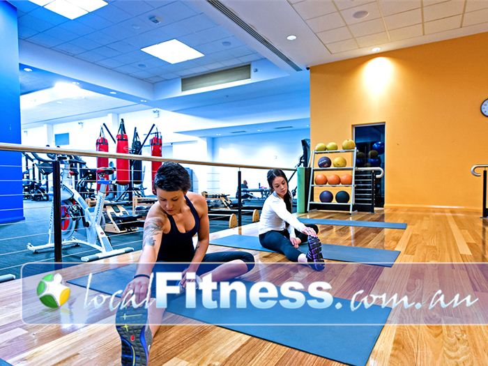 Genesis Fitness Clubs Mayfield Fully equipped with fit balls, medicine balls, stretching mats and more.