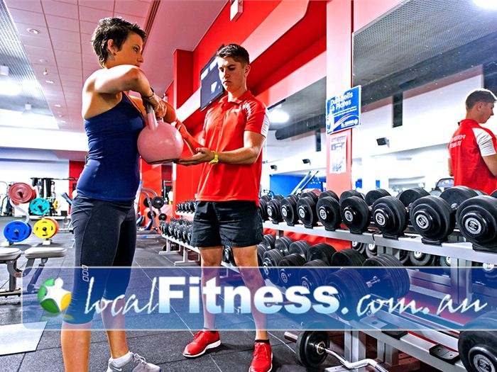 Genesis Fitness Clubs Near Callaghan Mayfield personal trainers can incorporate kettlebells into your workout.