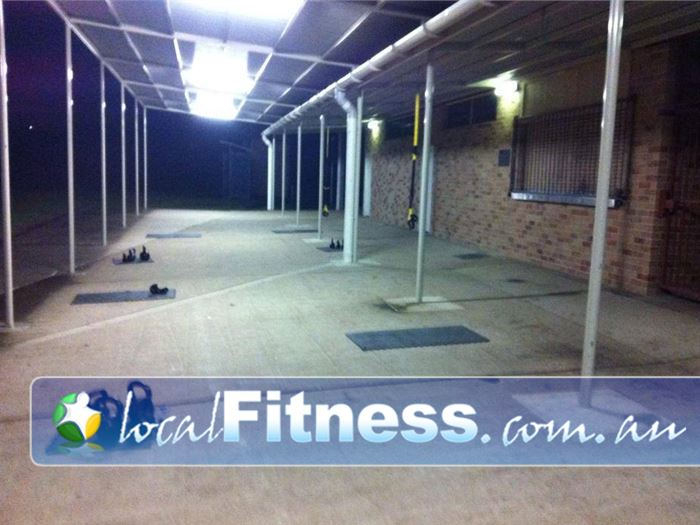 Elite Outdoor Fitness Cherrybrook The spacious undercover area in Cherrybrook.