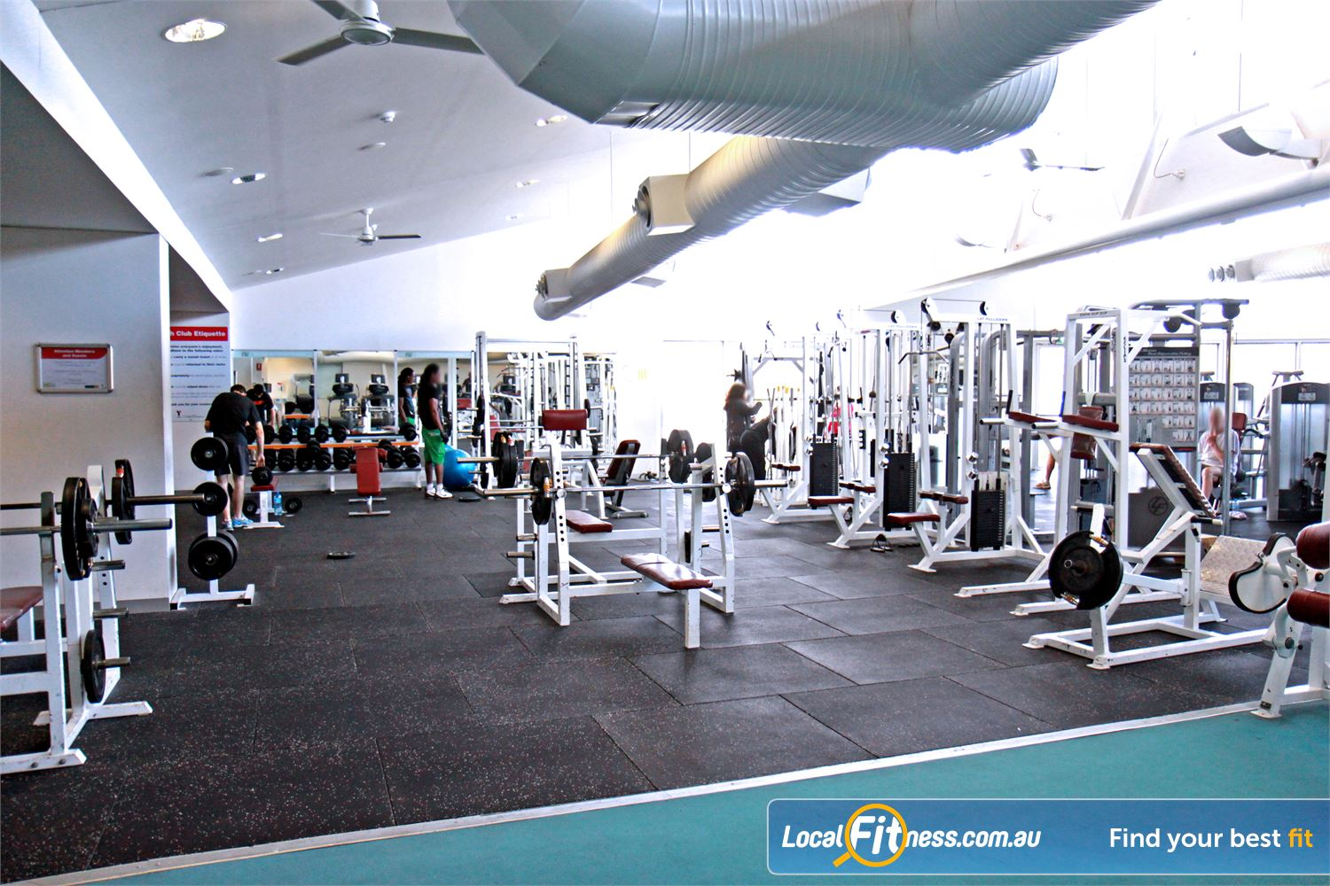 Ascot Vale Leisure Centre Near Aberfeldie Fully equipped Ascot Vale free-weights area.
