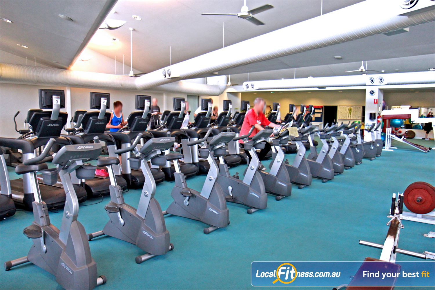 Ascot Vale Leisure Centre Near Moonee Ponds The spacious cardio theatre part of the 1000 sq/m Ascot Vale gym space.