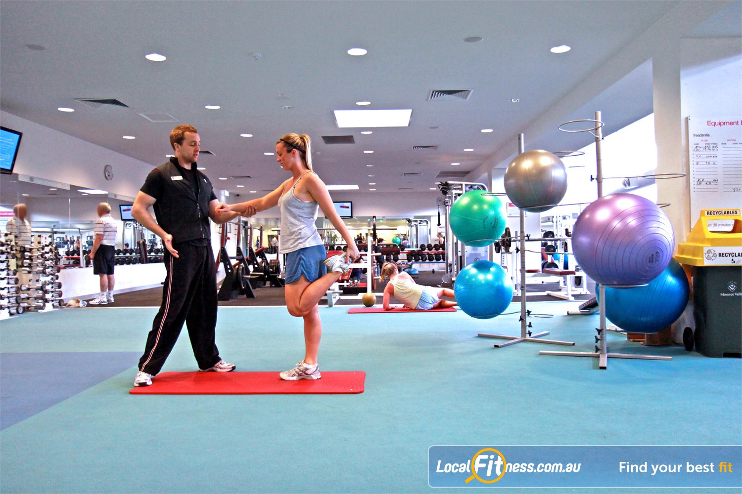 Ascot Vale Leisure Centre Near Aberfeldie Our Ascot Vale gym provides a full range of fitballs, mats and more.
