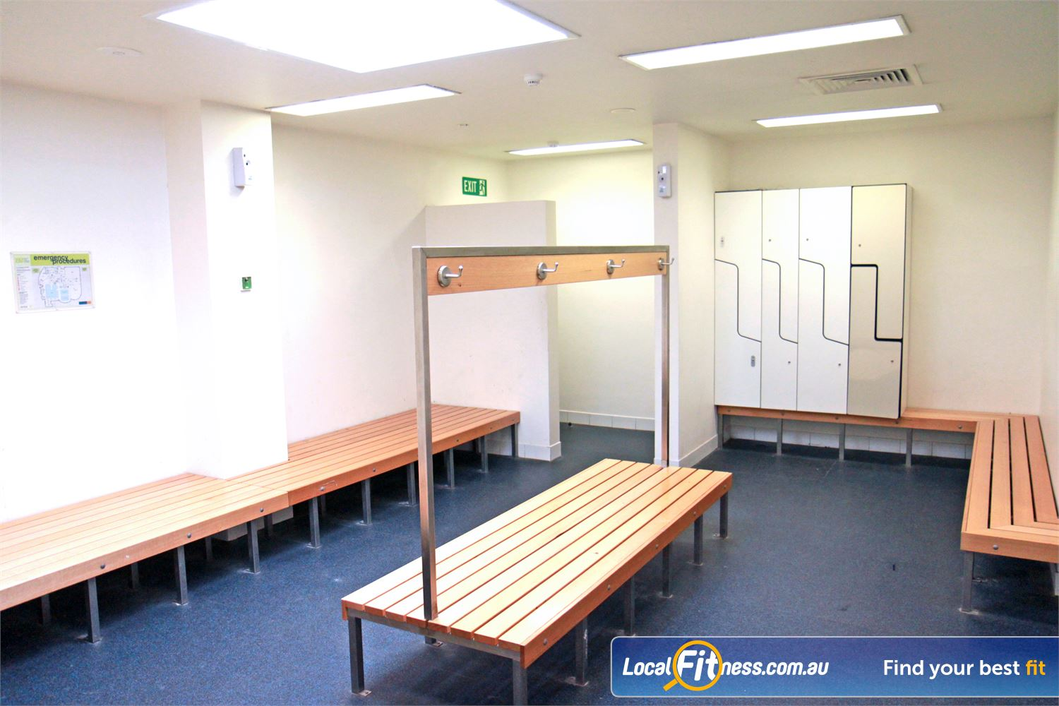 Ascot Vale Leisure Centre Ascot Vale The spacious members access change room facilities.