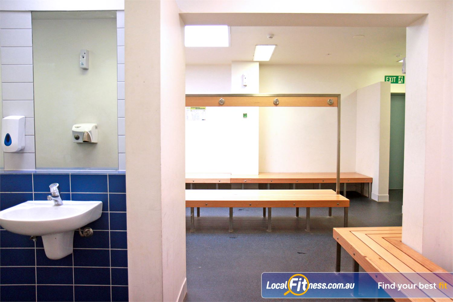Ascot Vale Leisure Centre Near Aberfeldie Private locker storage for your belongings via your members access card.