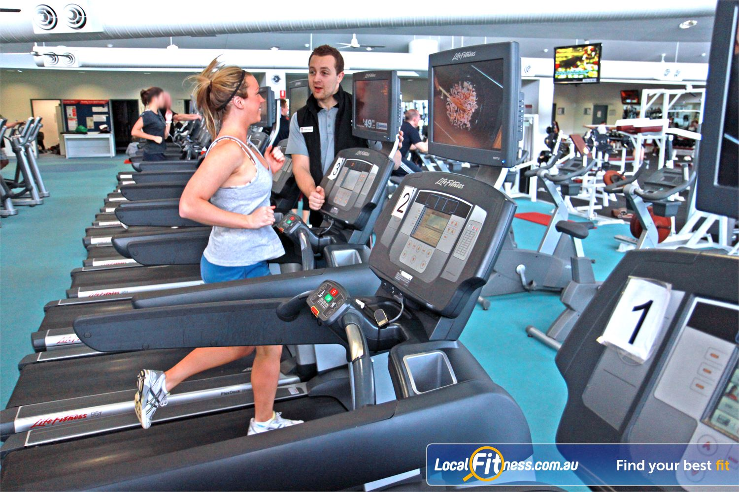 Ascot Vale Leisure Centre Ascot Vale Personal entertainment screens on our Ascot Vale cardio machines.