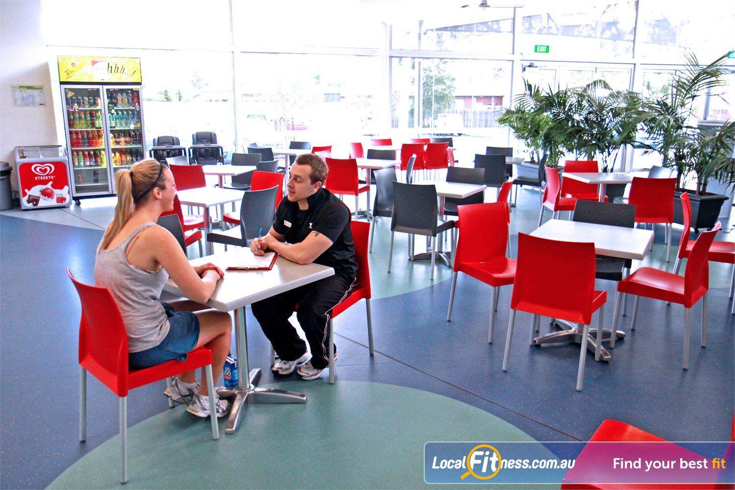 Ascot Vale Leisure Centre Ascot Vale 70-seat Ascot Vale cafe for members and guests.