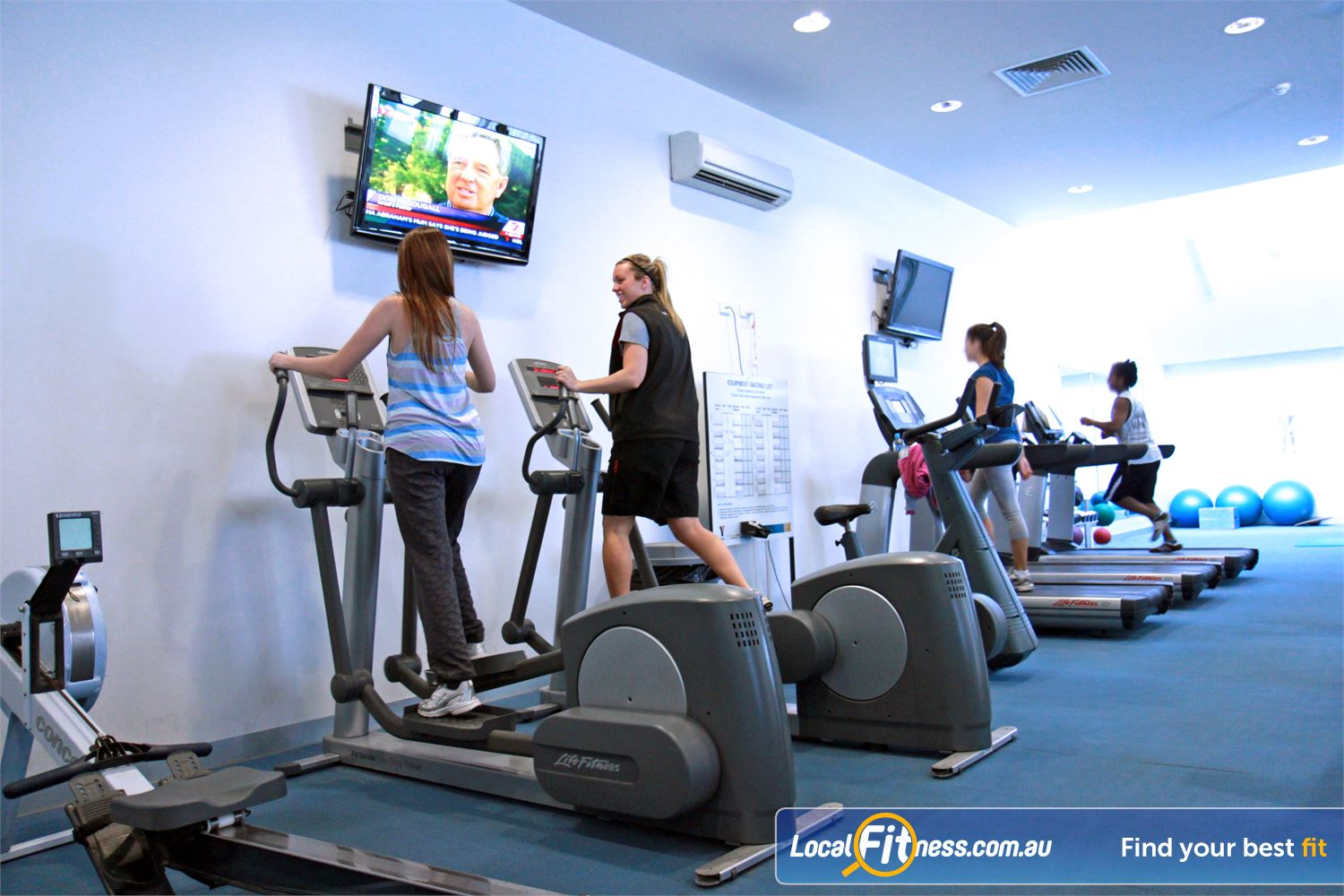 Ascot Vale Leisure Centre Near Aberfeldie A comprehensive range of treadmills, cross trainers, bikes and more.