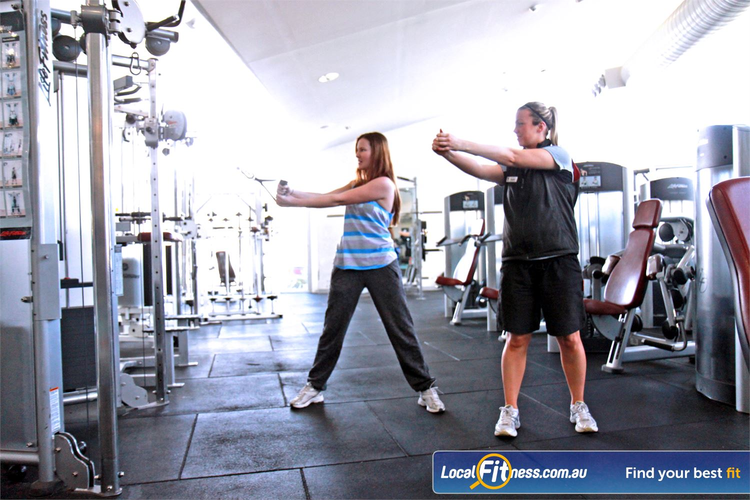 Ascot Vale Leisure Centre Ascot Vale Fully qualified Ascot Vale gym staff can tailor a women's fitness program for you.