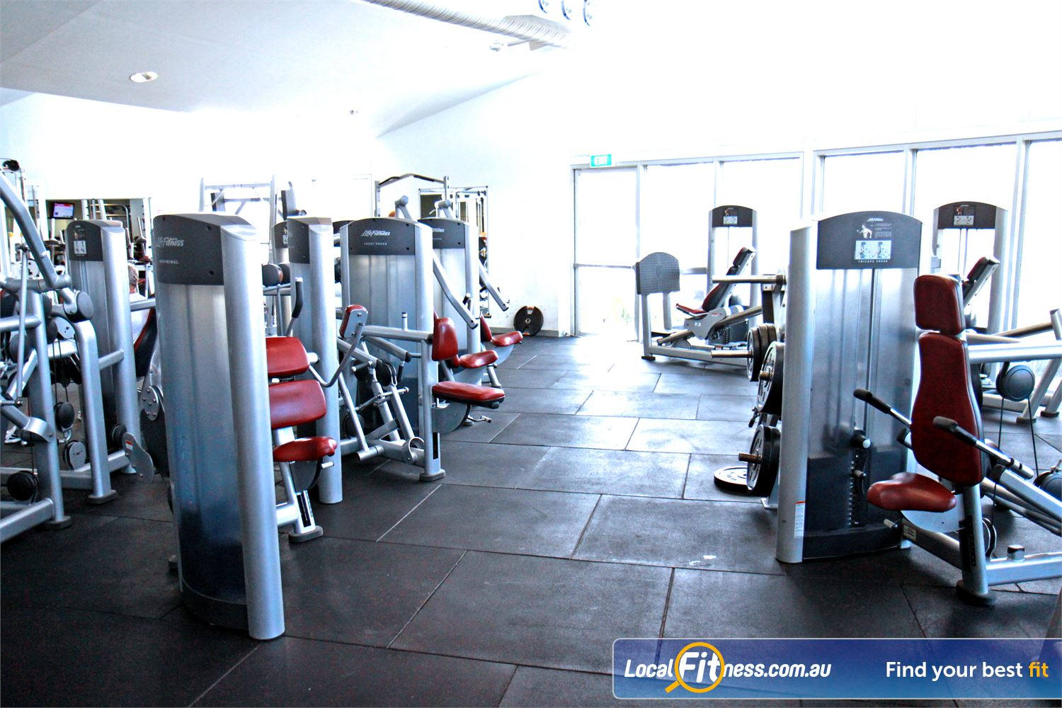 Ascot Vale Leisure Centre Near Moonee Ponds The latest resistance machines to help tone and strengthen your body.