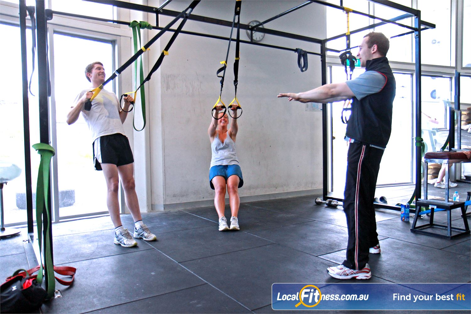 Ascot Vale Leisure Centre Near Aberfeldie Incorporate TRX suspension training in our Ascot Vale functional training area.