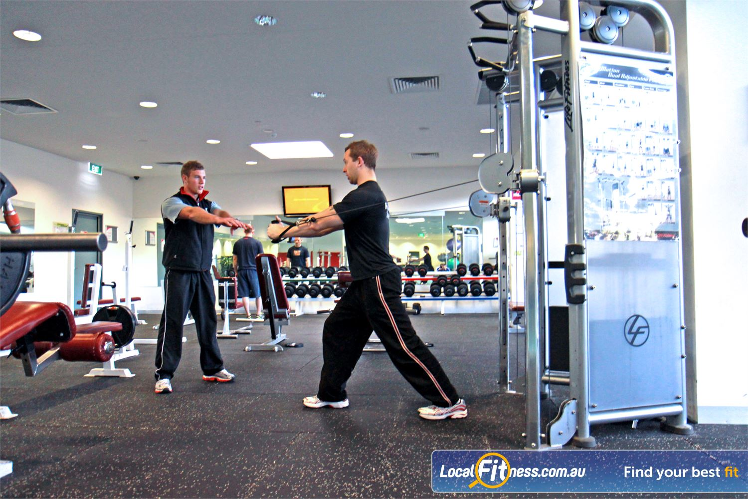 Ascot Vale Leisure Centre Near Aberfeldie Ascot Vale personal trainers will guide you to reach your strength goals.