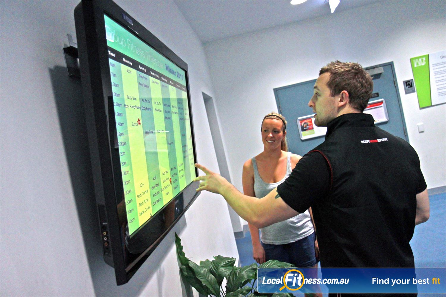 Ascot Vale Leisure Centre Ascot Vale See the latest changes and timetables with the group fitness display system.
