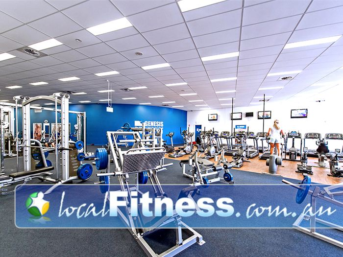 Genesis Fitness Clubs Gym Blackbutt  | Enjoy free-weight training with heavy duty plate loading