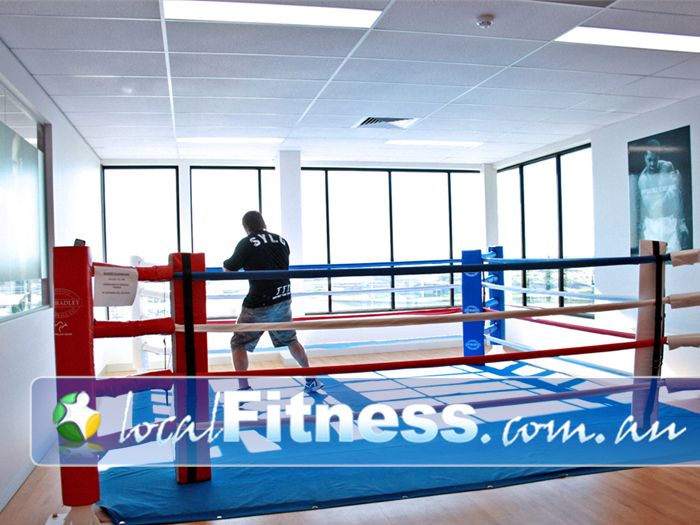 Goodlife Health Clubs Gym Sydenham  | Separate boxing ring and boxing studio.