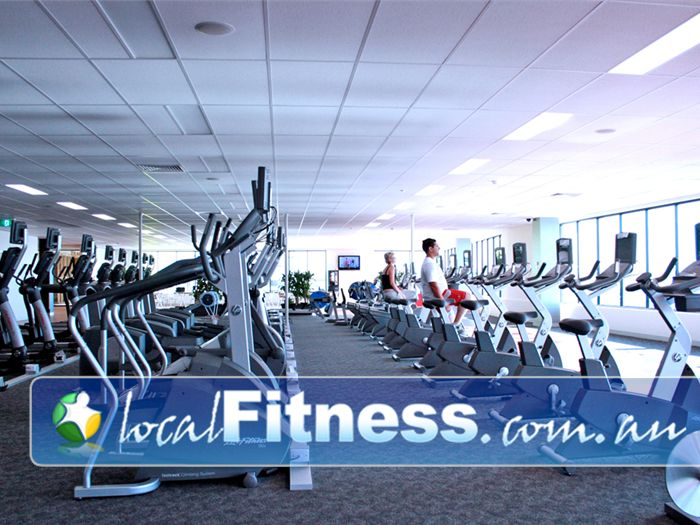 Goodlife Health Clubs Gym Melton  | An extensive range of cardio equipment overlooking the