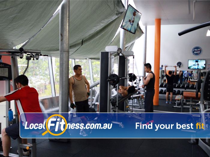 Plus Fitness 24/7 Waterloo Heavy duty power and squat racks for your strength training.