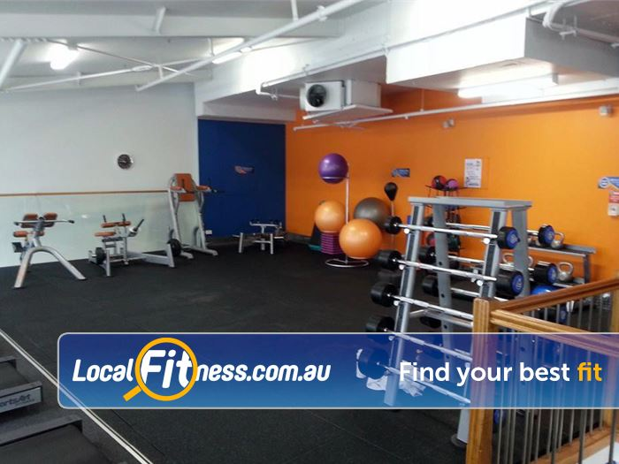 Plus Fitness 24/7 Near Zetland The spacious Waterloo gym with ab and stretching area.