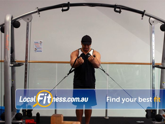 Plus Fitness 24/7 Near Moore Park A full range of easy to use pin-loading machines.
