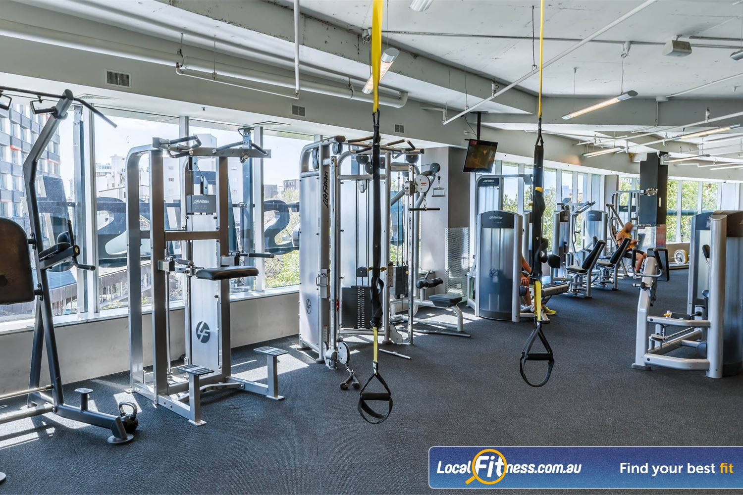 Fitness First Platinum Kings Cross Near Woolloomooloo Our Kings Cross gym uses state of the art Life Fitness pin-loading machines.