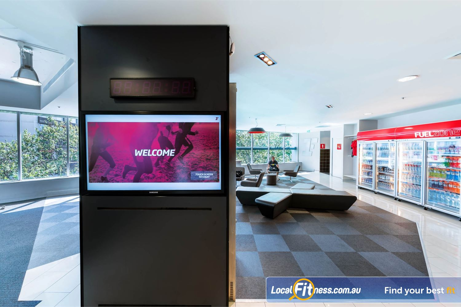 Fitness First Platinum Kings Cross Potts Point Exclusive members lounge with iPad Bar and WiFi.