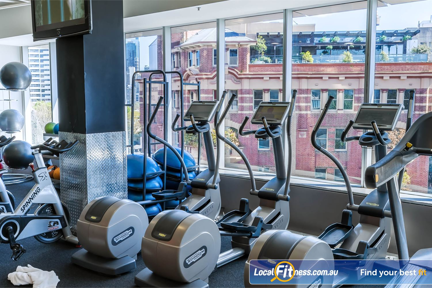 Fitness First Platinum Kings Cross Potts Point Personal entertainment screen on our state of the art cardio machines inc. cross trainers.