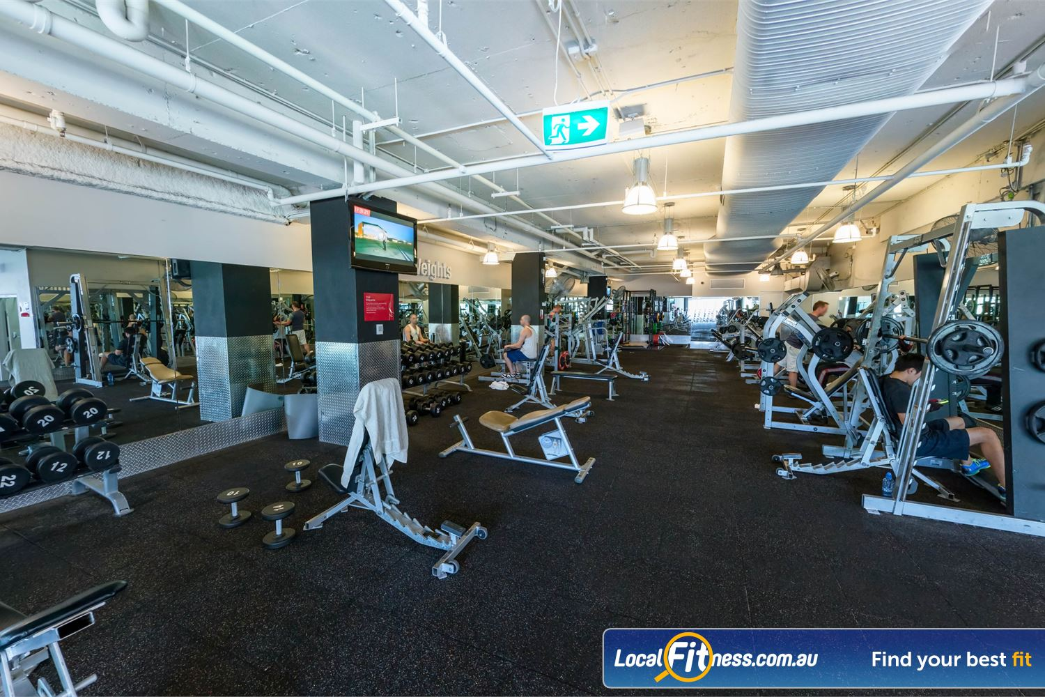 Fitness First Platinum Kings Cross Potts Point Our Kings Cross gym provides a fully equipped free-weights area.