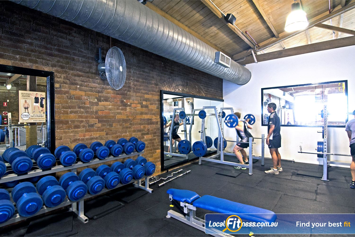 Goodlife Health Clubs Edward St Near City East Our Brisbane gym includes a comprehensive range of dumbbells and barbells.