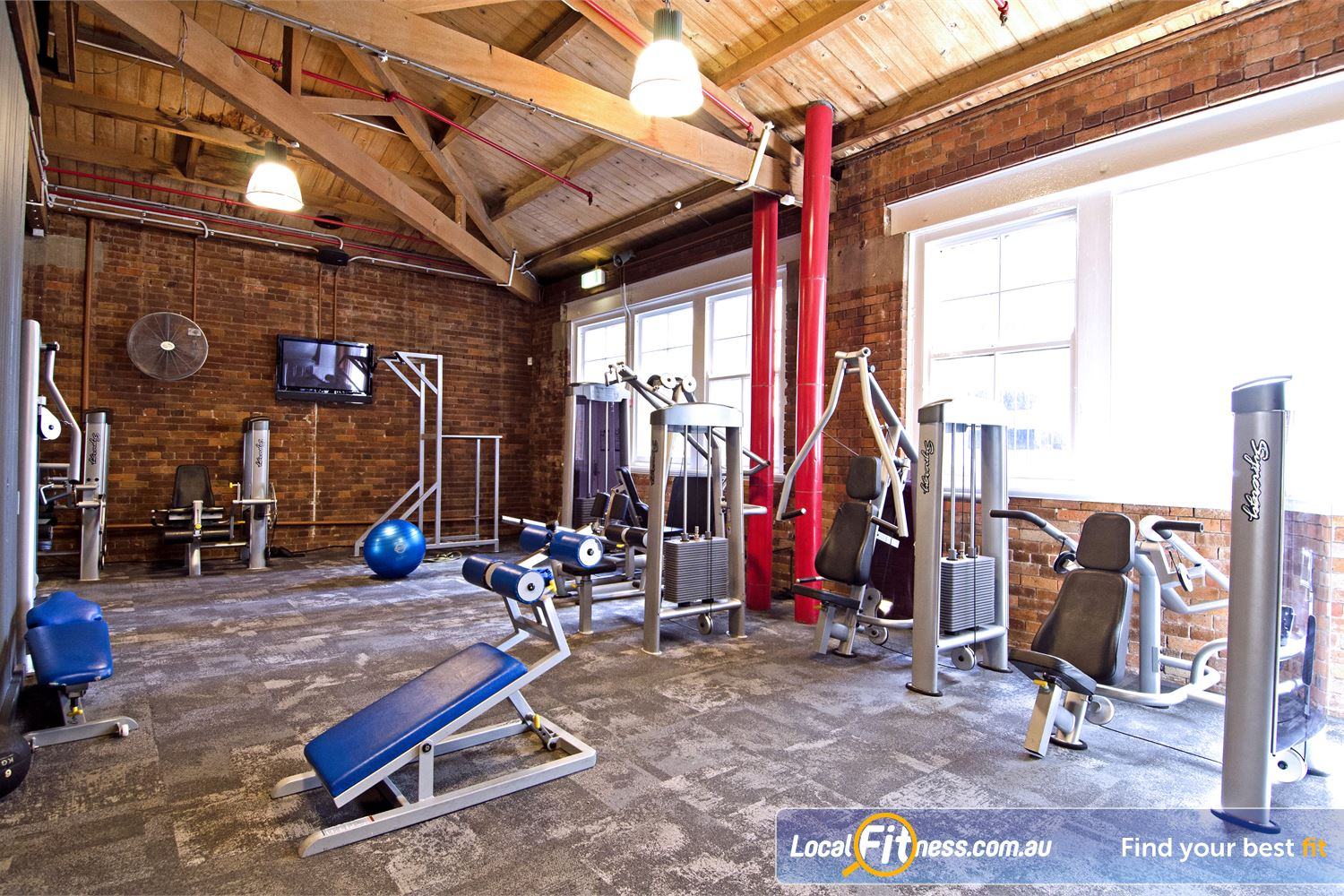 Goodlife Health Clubs Edward St Near City East Choose from a range of pin-loaded machines.