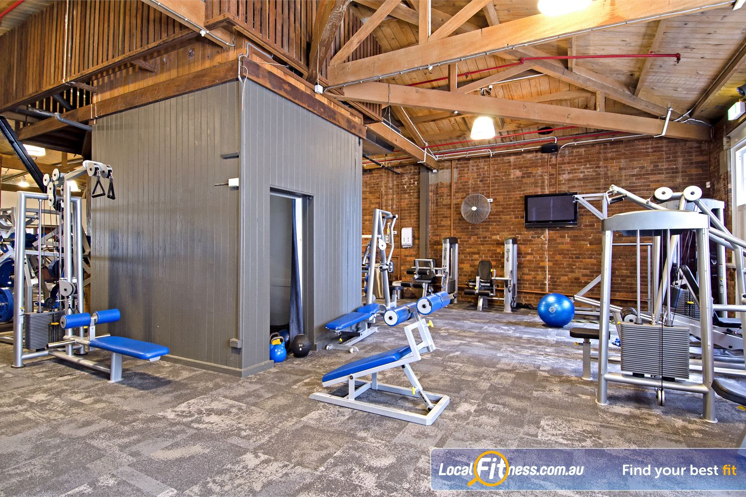 Goodlife Health Clubs Edward St Near Spring Hill Our spacious open-plan gym area in the heart of Brisbane.