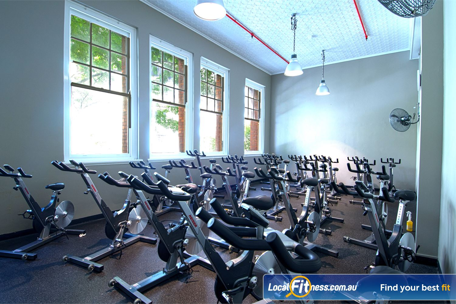 Goodlife Health Clubs Edward St Near City East Dedicated Brisbane spin cycle studio.