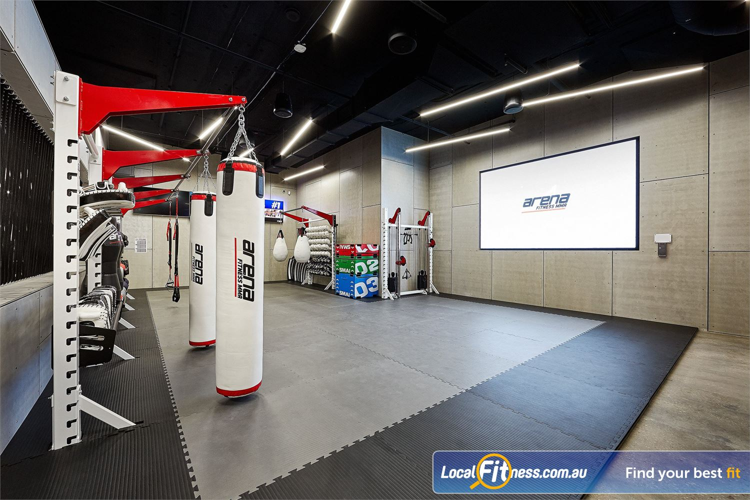 Goodlife Health Clubs Near Grange The new Arena MMA area in West Lakes.