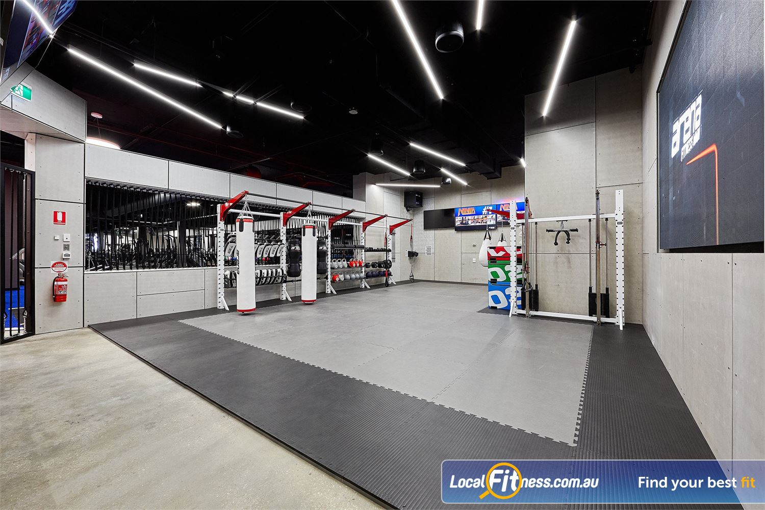 Goodlife Health Clubs Near Grange Arena fitness is coach-led HIIT and functional classes.