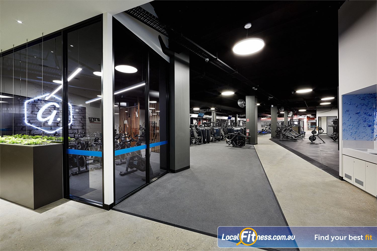Goodlife Health Clubs Near Seaton North The spacious gym floor at Goodlife West Lakes 24/7.