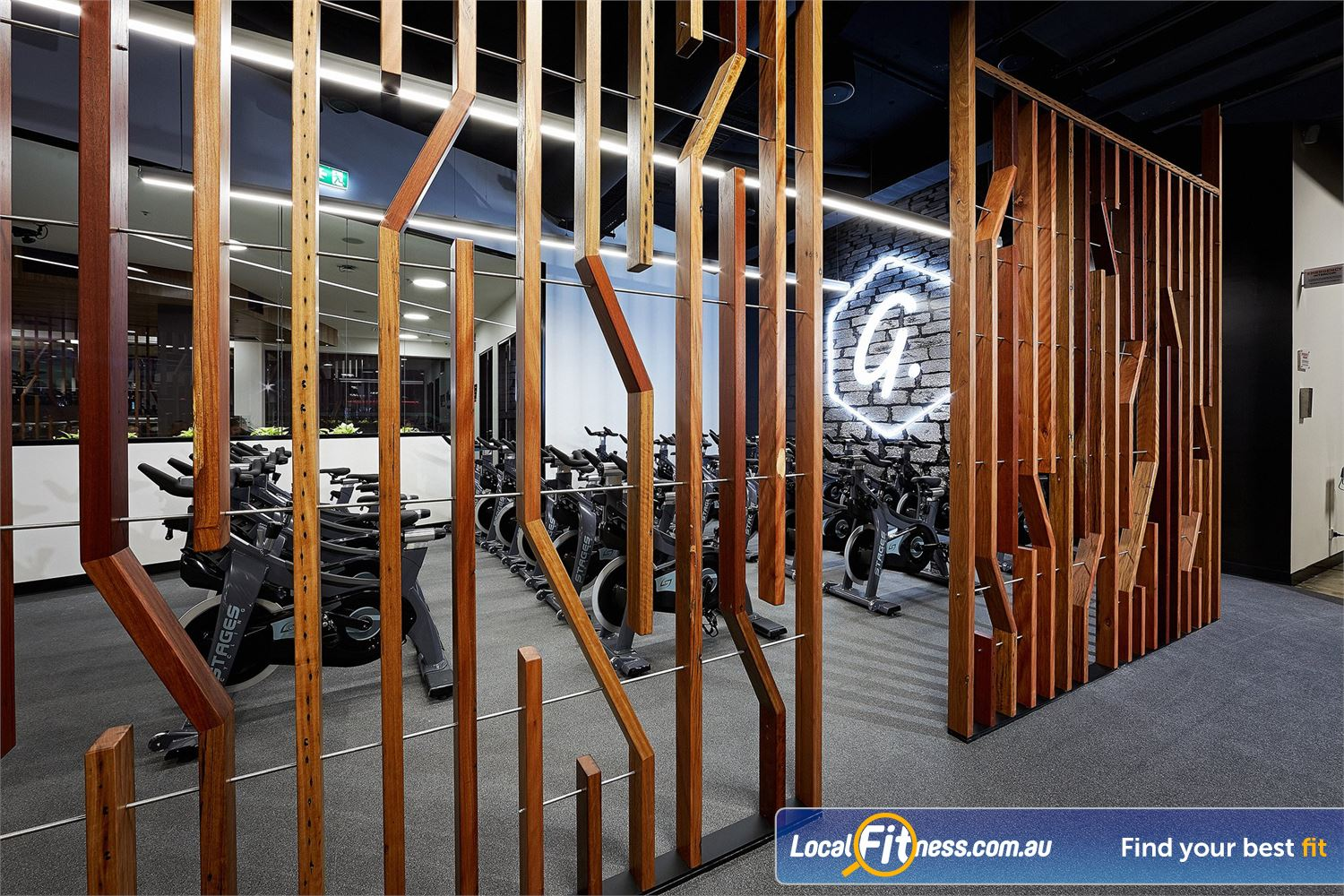 Goodlife Health Clubs West Lakes The new age West Lakes spin cycle studio.