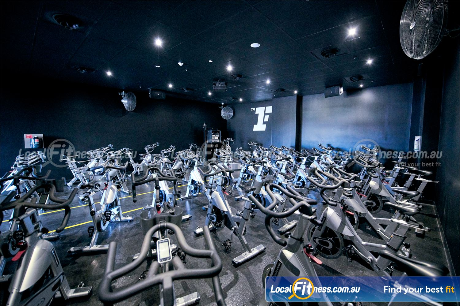 Fitness First Rockdale The dedicated Rockdale cycle studio at Fitness First.