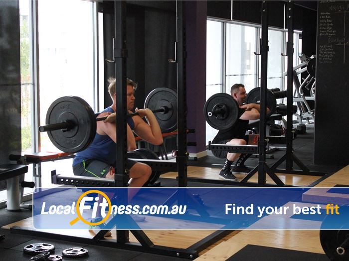 Elements4Life Harrison Our Harrison gym includes heavy duty lifting racks.